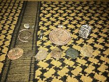 6 Silver ancient roman artifacts, Legionary, Fertility Ring And Pendant 6 Coins