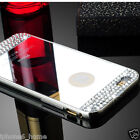 """Diamond Crystal Silver Mirror Case + Metal Bumper For iPhone 6/6s PLUS (5.5"""")"""