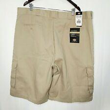 Dickies Mens 46 Cargo Shorts NWT khaki pockets loose fit flat front mens