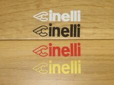 2 Cinelli Cycling Stickers Vintage Frame Forks Decals bike Wheel Box Printed
