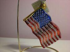 Old World Star-Spangled Banner (Flag) Glass Ornament