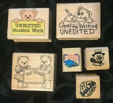Vtg~School,Student,Teache r,Classroom,Educational Rubber Wood Art Craft Stamp Lot