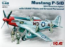 ICM 1/48 P-51D Mustang with USAAF Pilots and Ground Personnel # 48153