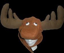Moose Hat Brown Animal Hat Carnival Fun Silly Costume Accessory One Size