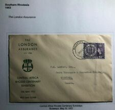 1953 Bulawayo S Rhodesia First Day cover To Winnipeg Canada Centenary Exhibition