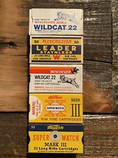 Vintage .22 Box Group #5 Winchester And Western Wildcat, Leader, Super Match