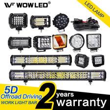 5D 12V 24V LED Work Roof Lights Bar Driving Work Lamp Offroad SUV Truck 4X4 Car