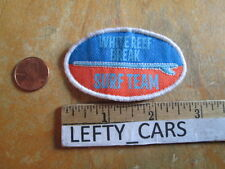 1 SURF BOARD TEAM WHITE REEF BREAK OVAL SHAPE CLOTH SMALL PATCH - SEW ON TYPE