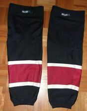 PHOENIX COYOTES Mike Smith worn 3rd-style black RBK socks (2011-2014) nice wear