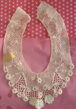 Antique Floral Lace Collar Ireland Flowers Cream Flowers Irish