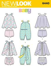 6440 BABIES' ROMPER SUNDRESS PANTS NEW LOOK Sewing Pattern Ages Newborn - Large