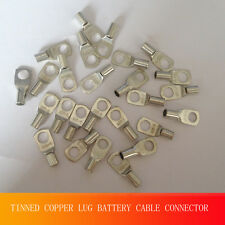 """Unique 20 10 AWG X 1/4"""" Stud TINNED COPPER LUG BATTERY CABLE CONNECTOR TERMINAL"""