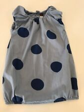Tea Collection 4 yr Large Polka Dot Blue Bubble Hem Dress Cutest Ever!