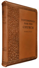Testimonies of the Church Vol 1-9 Brown Imitation Leather Zippered by E G White