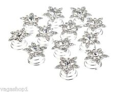 Hair Decorations Spirals Twists Twisted Pins Clips Curlies Weddings Proms Balls