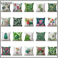 Tropical Rainforest Plant Sofa Cushion Pillow Cover Leaf Wedding Decoration