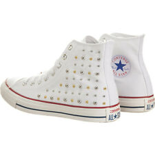 Converse White Gold Silver Studded Studs High Top Sneaker 544882 8 UK 6 39 24.5