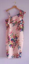 Spense Dress 14 NWT Romantic Pink Floral Print Summer Wedding Date Night Dress