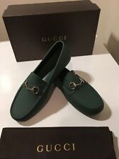 New Mens Gucci Green Rubber Horsebit  Loafer Shoes Uk SZ 10 /US 11 🇮🇹🇮🇹🇮🇹
