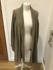 Gorgeous Women's Ochre 100% Cashmere Brown Waterfall Cardigan Size M/L
