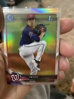 2018 Bowman Chrome Tim Cate (3x) Refractor Lot Washington Nationals