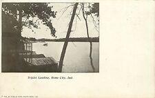 Vintage Postcard Triplet Landing Rome City Indiana IN Orange Township, Noble Co.