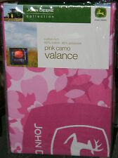 John Deere Pink Camo Valance- Just Adorable! NIP!!