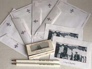 """1992 Euro Disney Resort """"Hotel Newport Bay Club"""" Paper Envelopes Matches Pencil"""