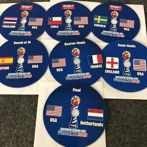 2019 FIFA Women's World Cup USA ALL 7 Games Group F, R16, QF SF, Final DVD