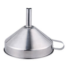3 Piece Stainless Steel Kitchen Funnel Set Fill Small Bottles Containers