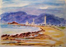 Bretagne, phares de Penmarc'h, Aquarelle originale