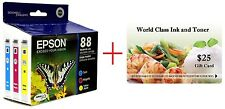 NEW GENUINE EPSON 88 CMY COMBO IN BOX! T0882/T0883/T0884 + FREE $25 GIFT CARD!!!
