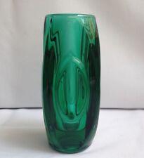 Rare Green Sklo Union Lens/Bullet Vase Glass, Czech
