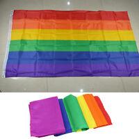 Regenbogenfahne Fahne Flagge Lesbian Gay Flag Rainbow Regenbogen 90 X 150cm K0U3