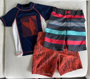 Body Glove Rash Guard & Boys Swimsuit + Art Class Swimsuit (3 pieces), Size 7*