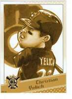 Christian Yelich 2020 Topps Big League Star Caricature Reproductions 5x7 Gold #S