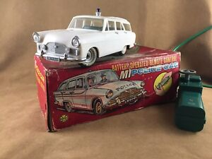 MARX TOYS M1 FORD ZEPHYR POLICE CAR, LARGE SCALE REMOTE CONTROL - BOXED