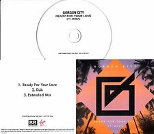 GORGON CITY Ready For Your Love 2013 UK numbered 3-trk promo test CD