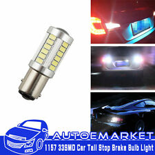 2pcs 1157 BAY15D 33SMD 5630 White Bright Car LED Brake Stop Light Bulbs Lamp 12v