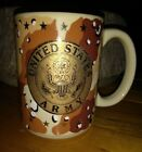 United States Army! Camo Lg Coffee Cup Mug gold stars and seal! Thank a soldier!