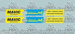 VINTAGE MAVIC OPEN 4 CD Rim decals - perfect for renovations