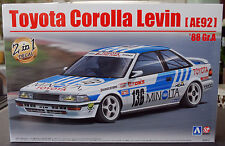 1988 toyota corolla AE 92 talla a Minolta, 1:24, aoshima beemax 098240