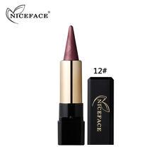AU Waterproof Glitter Eyeshadow Pen Metallic Eye Brighten Contour Shadow Stick 12#