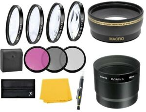 Wide Angle Lens & Macro Close-up Filter Set for Canon PowerShot  S5 S3 S2 IS