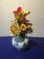 Vintage The Royal Dutch Bouquet Igor Carl Faberge 1980 Enamel Flowers Very Rare!