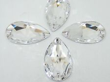 12 pcs. 12X7mm CRYSTAL PEAR SEW ON swarovski rhinestone