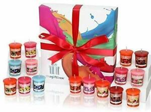Honeybeam Candle Gift Set - 16 Scented Wax Candles.
