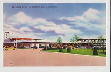 Midwest City,Oklahoma,Shopping Center,Oklahoma County,Linen,c.1940s