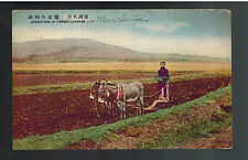 1926 Dairen Manchuria China Postcard Cover to Milford MA USA IJPO Farmer Plowing