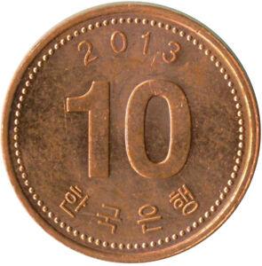 COIN / SOUTH KOREA / 10 WON 2013   #WT10648